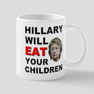 Hillary Eats Kids Mug