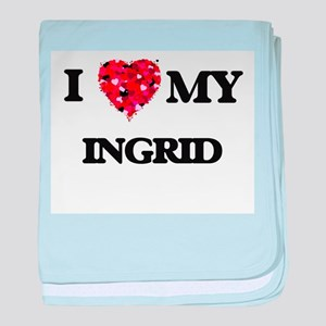 I love my Ingrid baby blanket
