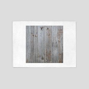 old wood 5'x7'Area Rug