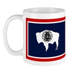 Wyoming State Flag on LH Mug