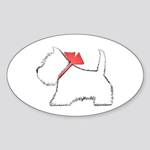 Cute Westie Dog Art Sticker
