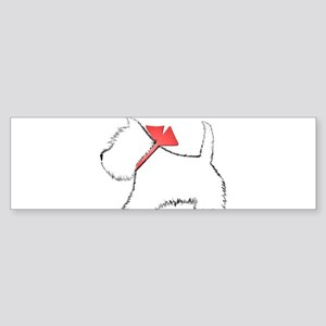 Cute Westie Dog Art Bumper Sticker