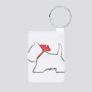 Cute Westie Dog Art Keychains
