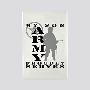 Son Proudly Serves - ARMY Rectangle Magnet