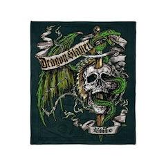 Dragon Slayer Crest Throw Blanket