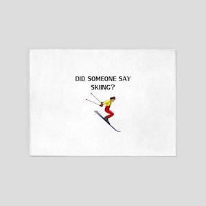 Did Someone Say Skiing? 5'x7'Area Rug