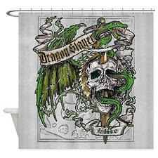 Dragon Slayer Crest Shower Curtain