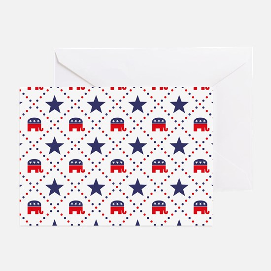 Republican Diamond Patte Greeting Cards (Pk of 20)