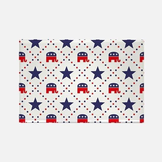 Republican Diamond Patt Rectangle Magnet (10 pack)