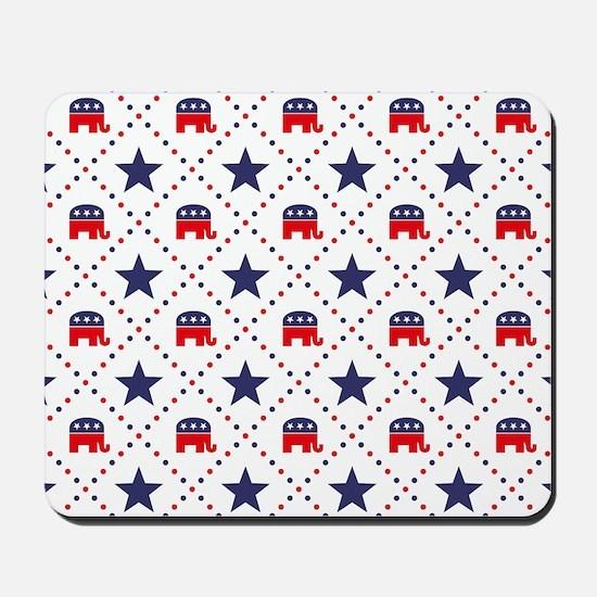 Republican Diamond Pattern Mousepad