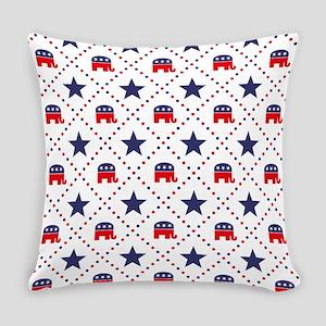 Republican Diamond Pattern Everyday Pillow