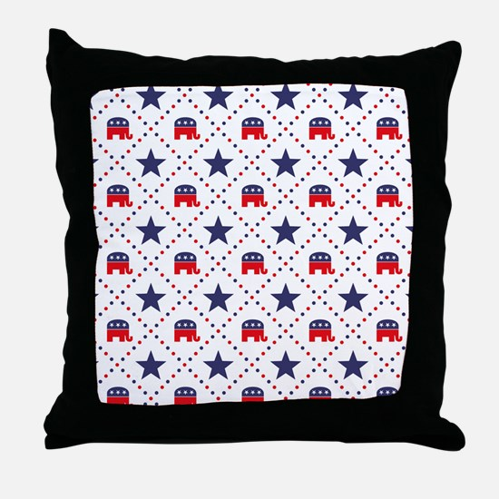 Republican Diamond Pattern Throw Pillow