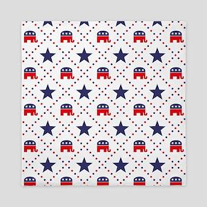 Republican Diamond Pattern Queen Duvet