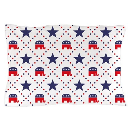 Republican Diamond Pattern Pillow Case By Pinkinkart2