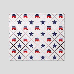 Republican Diamond Pattern Throw Blanket