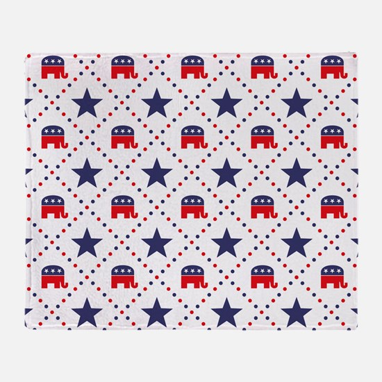 Republican Diamond Pattern Throw Blanket