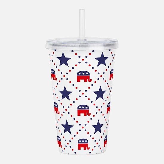 Republican Diamond Pat Acrylic Double-wall Tumbler
