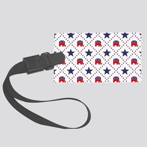 Republican Diamond Pattern Large Luggage Tag