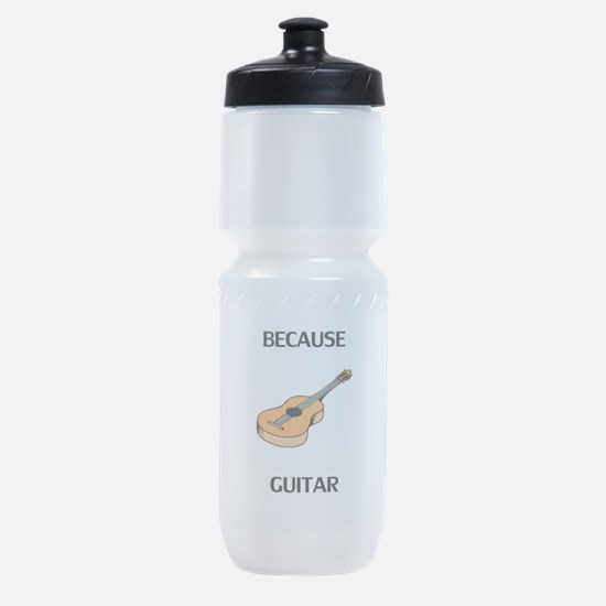 Because Guitar Sports Bottle