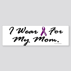 I Wear Purple For My Mom 2 (CF) Bumper Sticker
