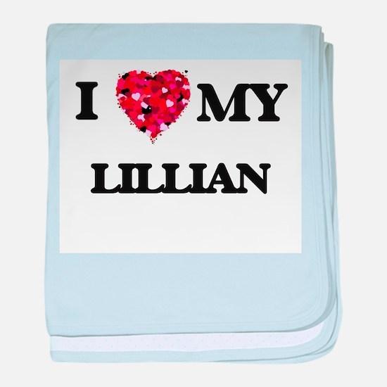 I love my Lillian baby blanket