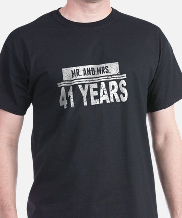 Mr. And Mrs. 41 Years T-Shirt