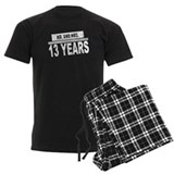13th wedding anniversary Men's Dark Pajamas