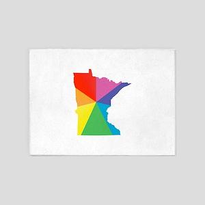 minnesota rainbow 5'x7'Area Rug