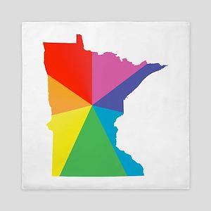 minnesota rainbow Queen Duvet