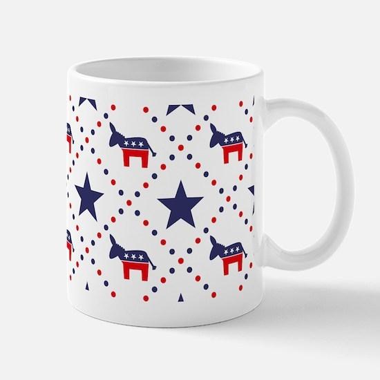 Democrat Diamond Pattern Mug