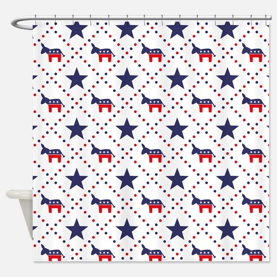 Democrat Diamond Pattern Shower Curtain
