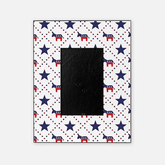 Democrat Diamond Pattern Picture Frame