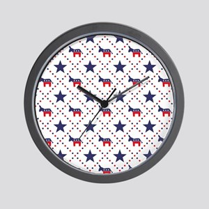 Democrat Diamond Pattern Wall Clock