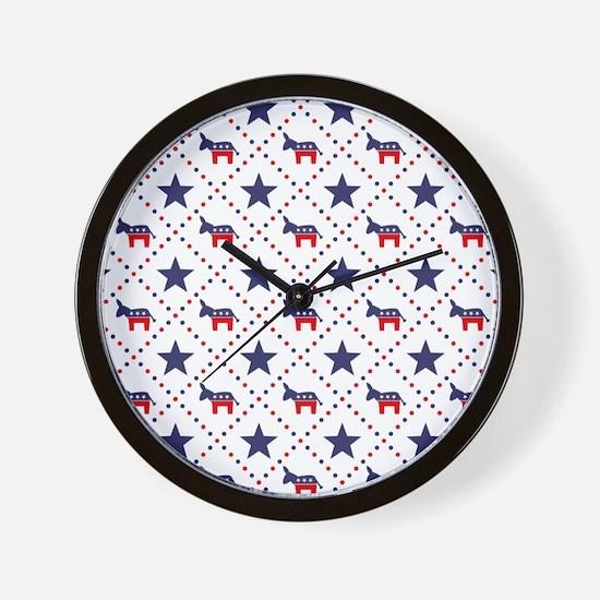 Democrat Diamond Pattern Wall Clock