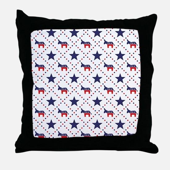 Democrat Diamond Pattern Throw Pillow