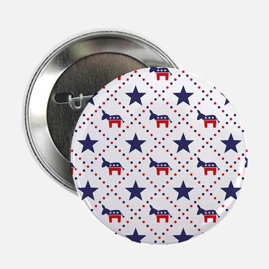 "Democrat Diamond Pattern 2.25"" Button (10 pack)"