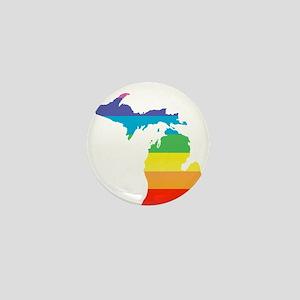 michigan rainbow Mini Button