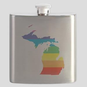 michigan rainbow Flask