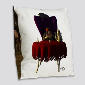 Gypsy Twilight Tea Burlap Throw Pillow