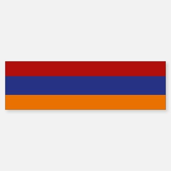 """""""Armenia Flag"""" Bumper Bumper Bumper Sticker"""