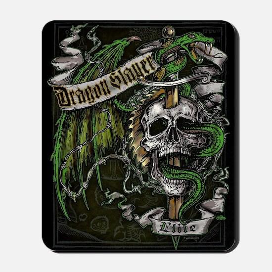 Dragon Slayer Crest Mousepad