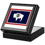 Wyoming State Flag on Keepsake Box