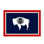 Wyoming State Flag on Postcards (Package of 8)