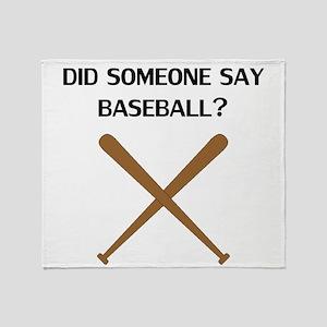 Did Someone Say Baseball? Throw Blanket