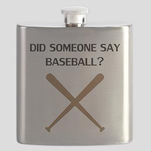Did Someone Say Baseball? Flask