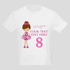 Custom Cheerleader Kids Light T-Shirt