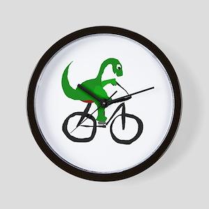 Dinosaur Riding Bicycle Wall Clock