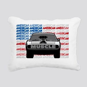 Street Racing American M Rectangular Canvas Pillow