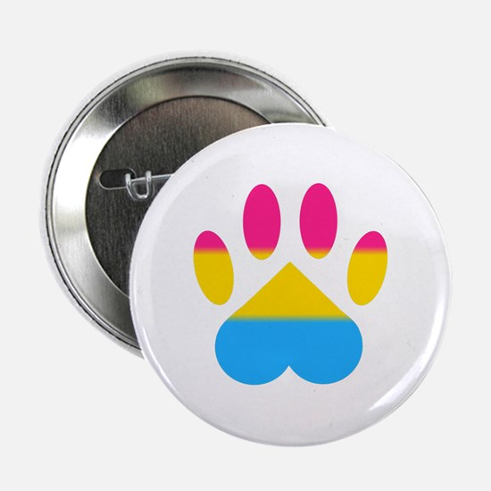 """Pansexual Pride Paw 2.25"""" Button"""
