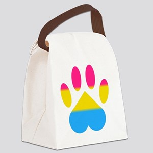 Pansexual Pride Paw Canvas Lunch Bag
